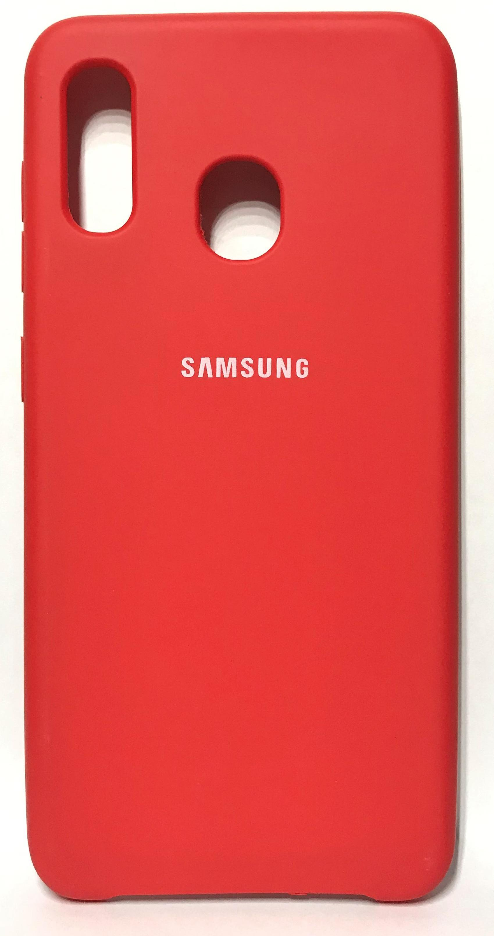 Крышка original Silicone Cover для Samsung A30S(new) красная